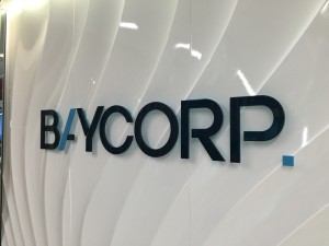 Baycorp office signage graphic