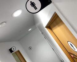 AT Auckland Transport toilet signage