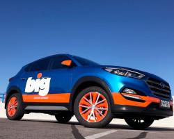 BIG Hyundai Tucson signage