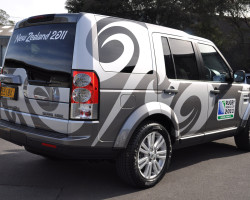 Rugby World Cup Land Rover fleet
