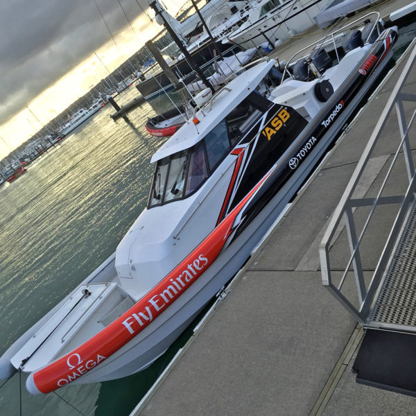 Emirates Team NZ chase boat