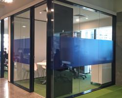 Window treatment transparent print –Foster Moore