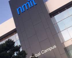 NMIT illuminated sign