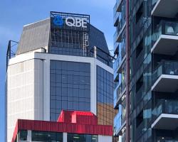 QBE illuminated sky signage