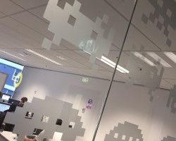 Space Invaders window film – AIMES Institute of IT