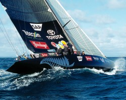 Team New Zealand Black Boat