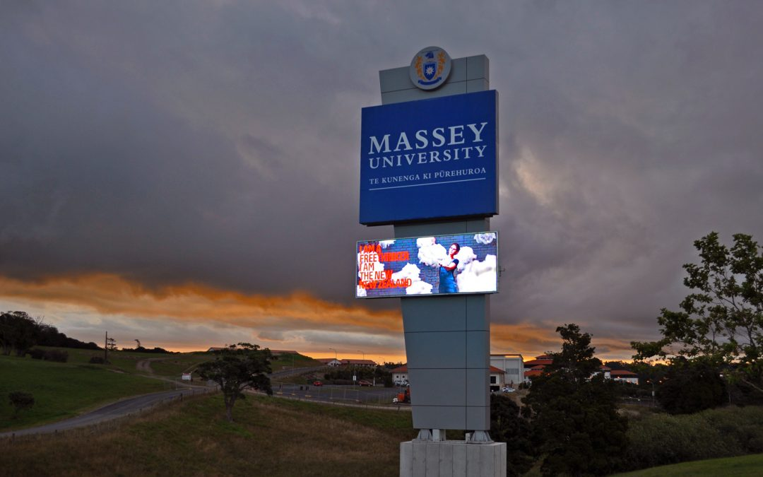 Massey University Roadside Plinth