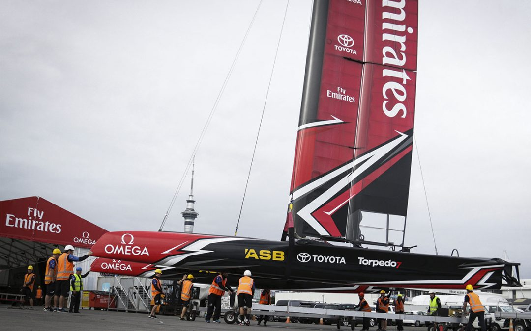 Emirates Team NZ AC45 race graphics