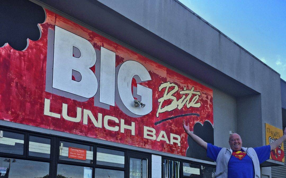 Big Bite sign – Standing the test of time