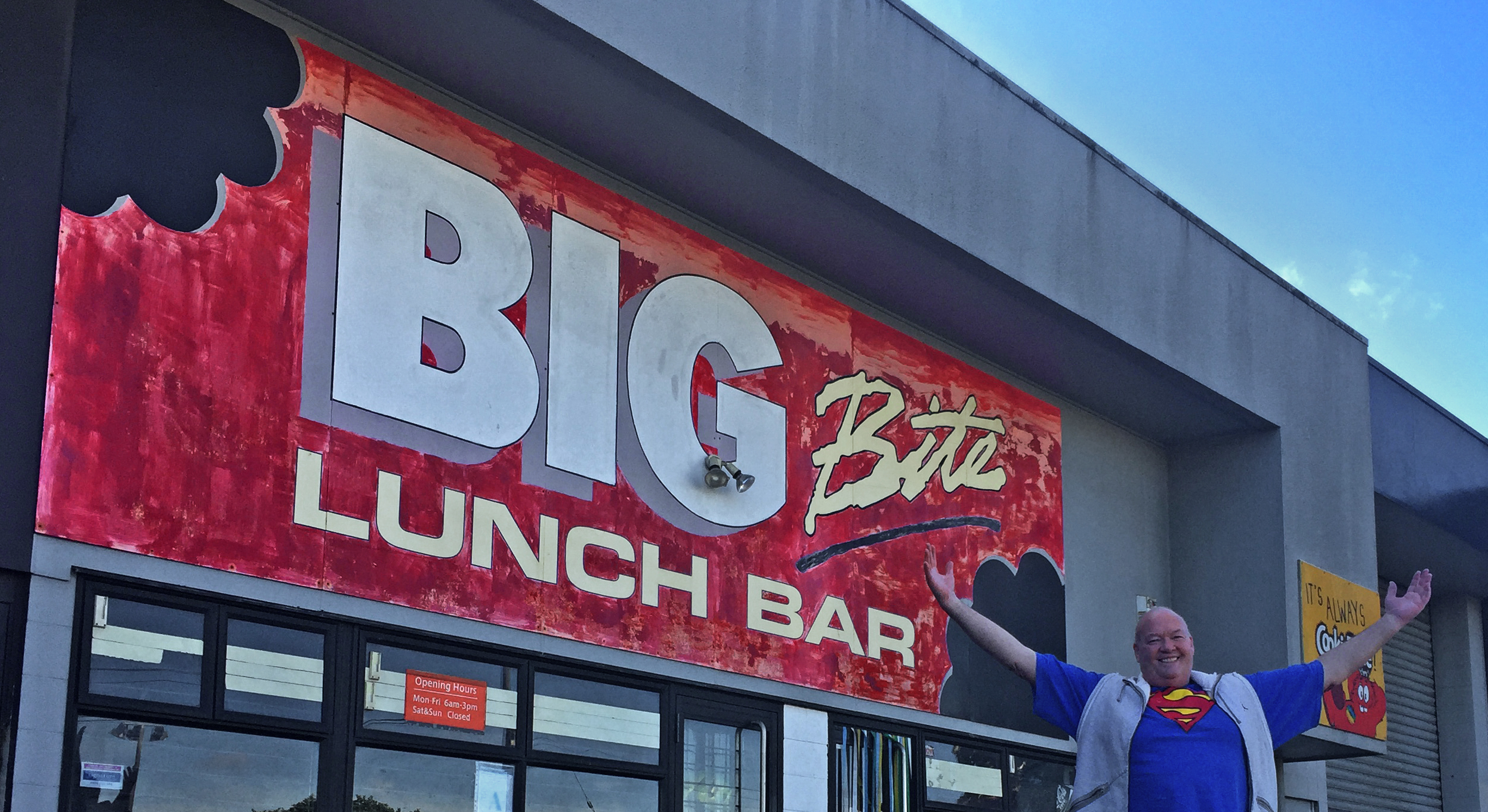 Big Bite sign – Standing the test of time graphic