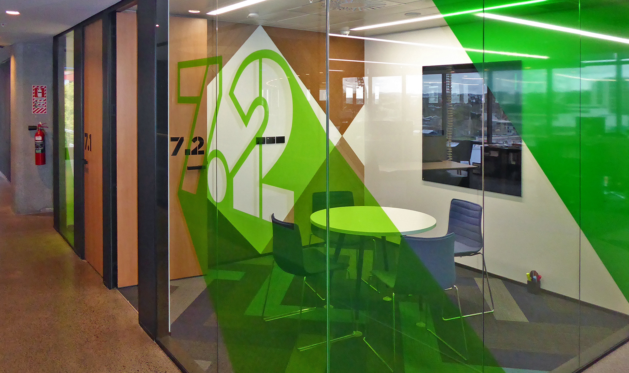 TVNZ Meeting Room Signage graphic