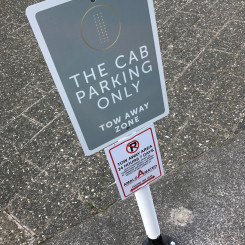 The CAB parking sign