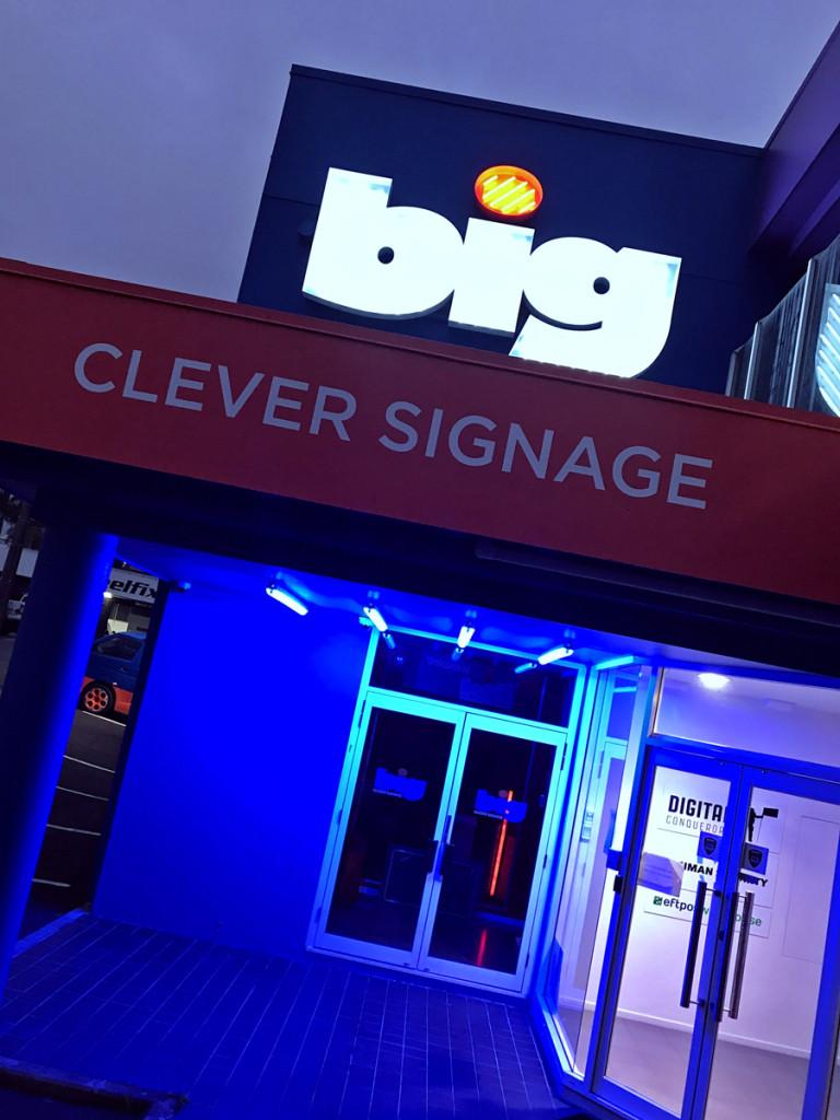 BIG neon sign