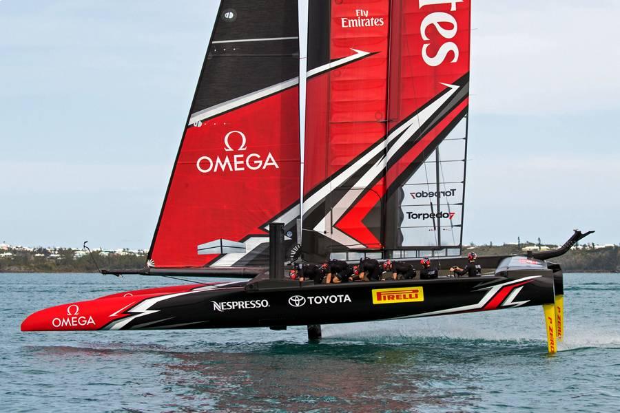 Emirates Team New Zealand race boat