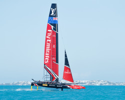 15/05/17- Emirates Team New Zealand sailing on Bermuda's Great Sound testing in the lead up to the 35th America's Cup