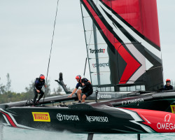 22/05/17- Emirates Team New Zealand sailing on Bermuda's Great Sound training, testing and practice racing in the lead up to the 35th America's Cup