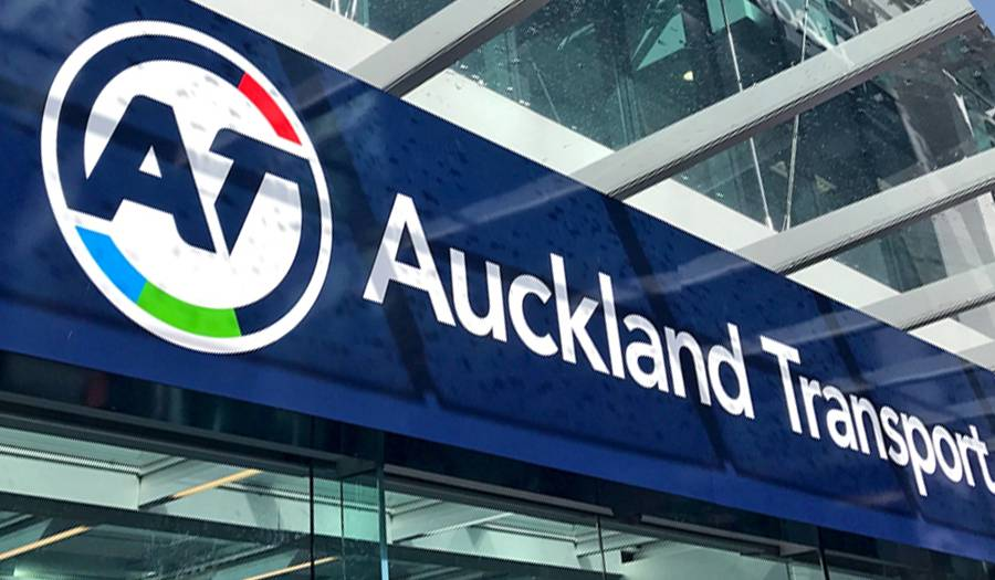 Auckland Transport signage graphic