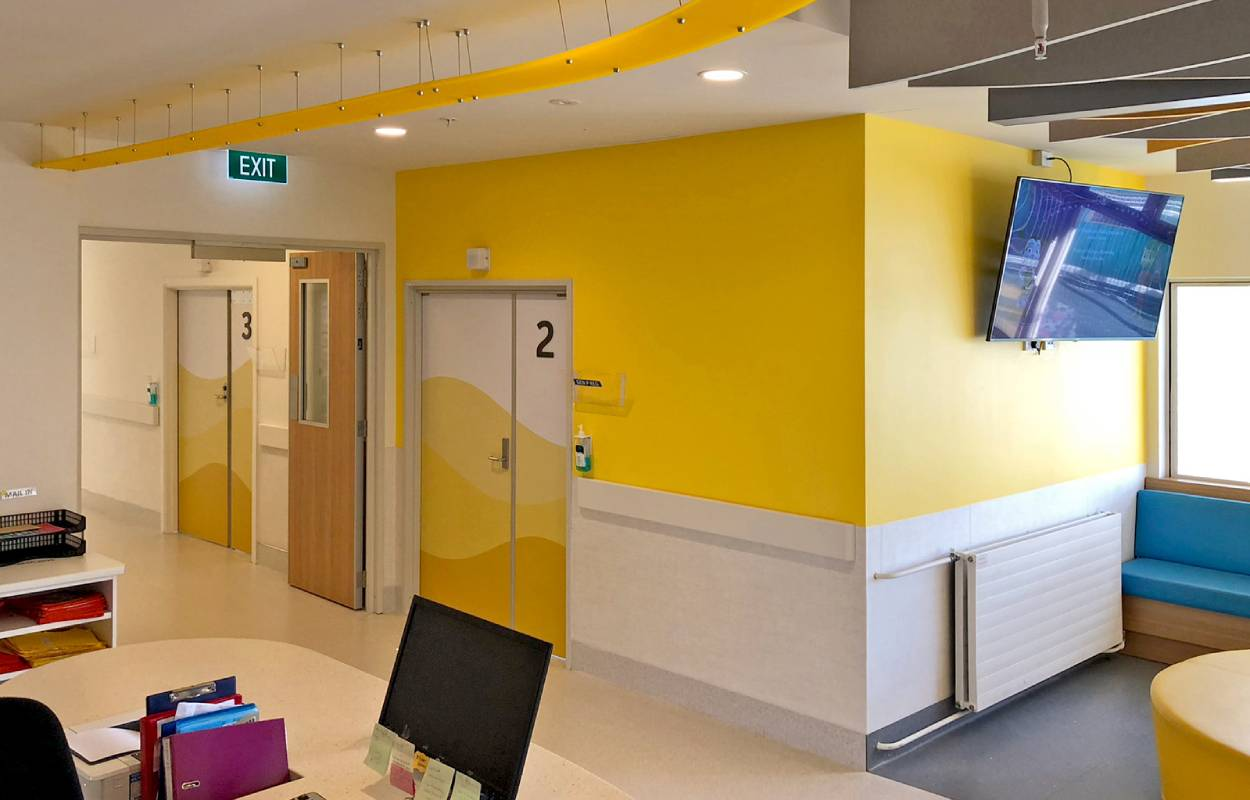 Starship Hospital interior design refresh graphic