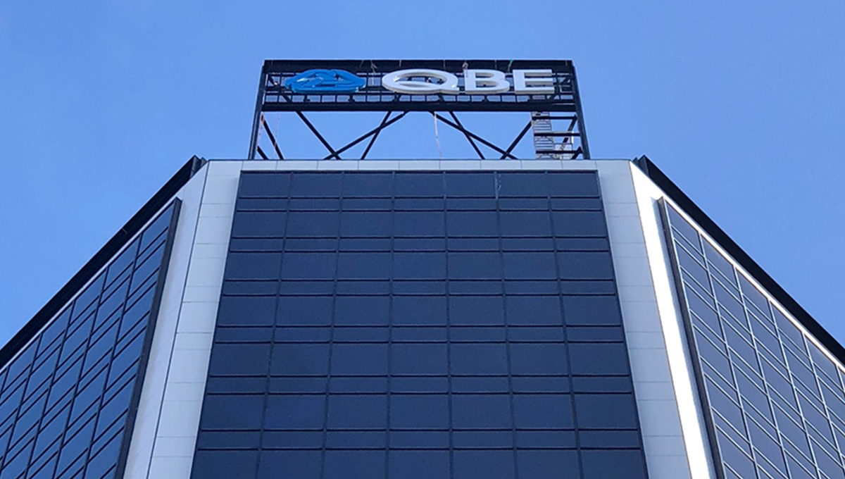 QBE Insurance Sky Signage graphic
