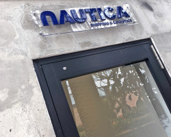 Nautica building sign