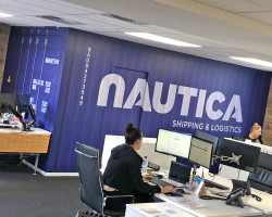 Nautica shipping container mural