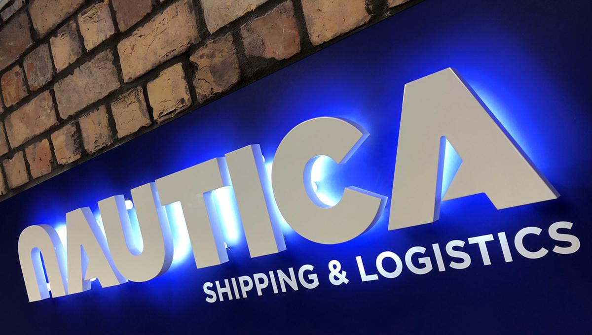 Nautica office signage graphic