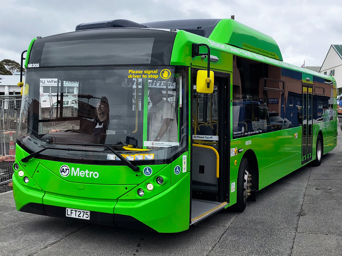 Bus wraps for Auckland Transport graphic