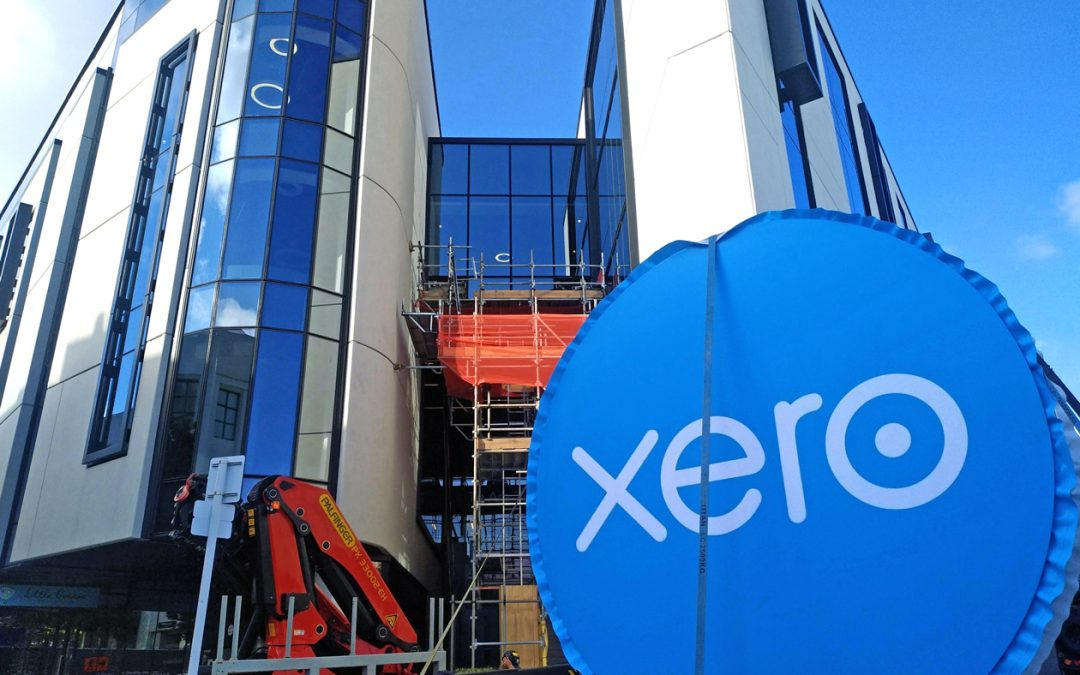 suspended signage for Xero