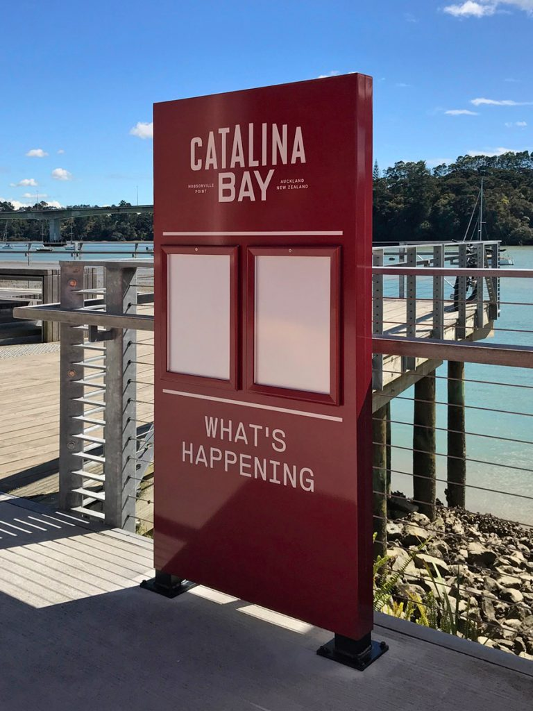 Catalina Bay entrance plinth