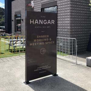The Hangar freestanding plinths