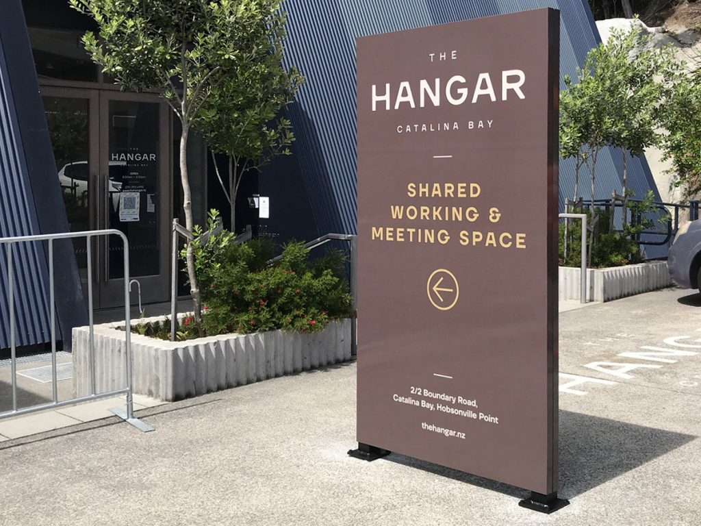 The Hangar freestanding plinth