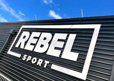 Rebel Sport Building Signage